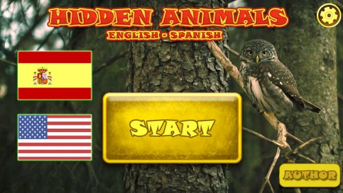 Hidden Animals: English-Spanish