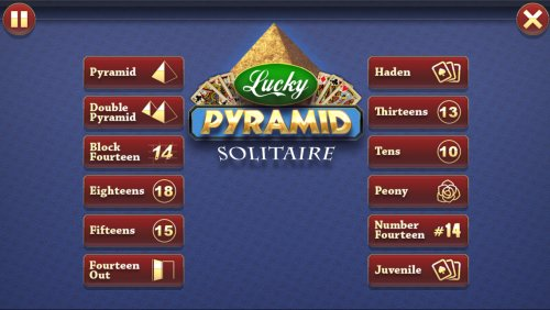 Lucky Pyramid Solitaire