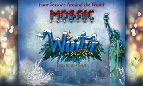 Four Seasons Around the World: Winter in New York Mosaic Edition